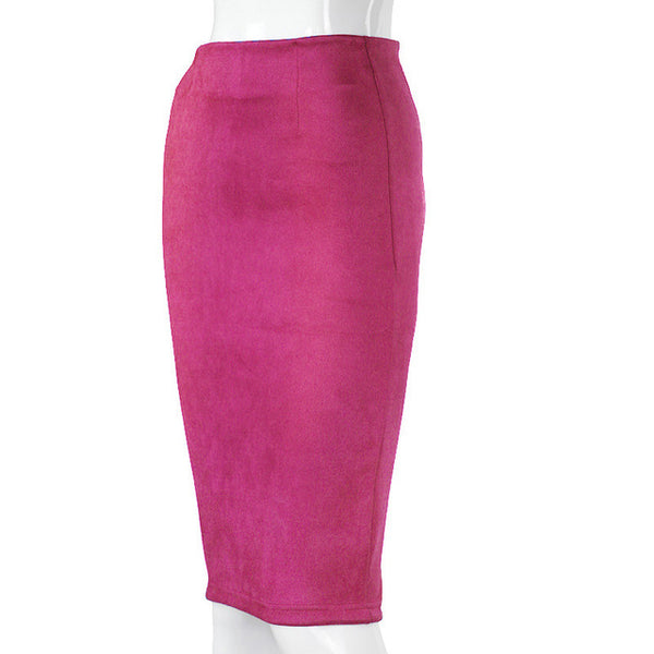 Suede Pencil Skirt FREE SHIPPING