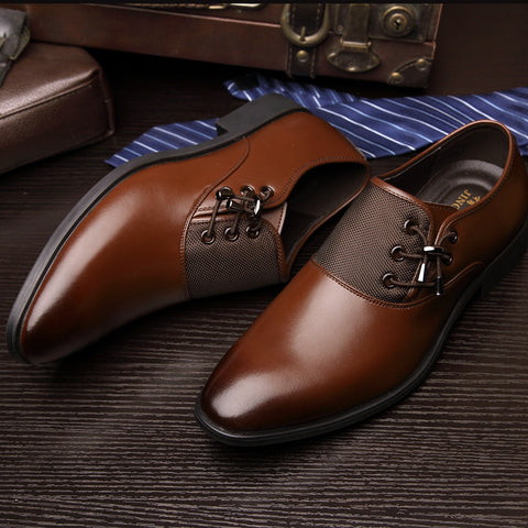 Denzza Genuine Leather Shoes,Men,Gentleman,Business,Genuine,Leather,Shoes