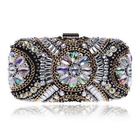 Beaded Clutch With Chains FREE SHIPPING