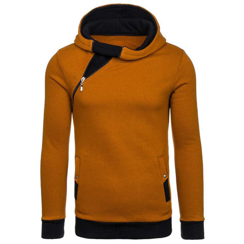 Angle Zipper Men's Hoodie FREE SHIPPING