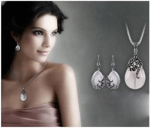 Water Drop Pendant  Necklaces And Earrings FREE SHIPPING