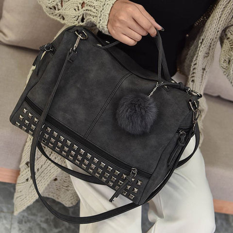Top-Handle Rivet Bags FREE SHIPPING