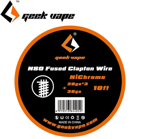 N80 Fused Clapton Wire (26GAx3+36GA)