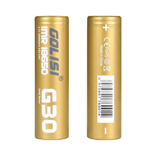2pcs Golisi G30 IMR 18650 3000mAh High-drain Battery - 25A fra Goslisi