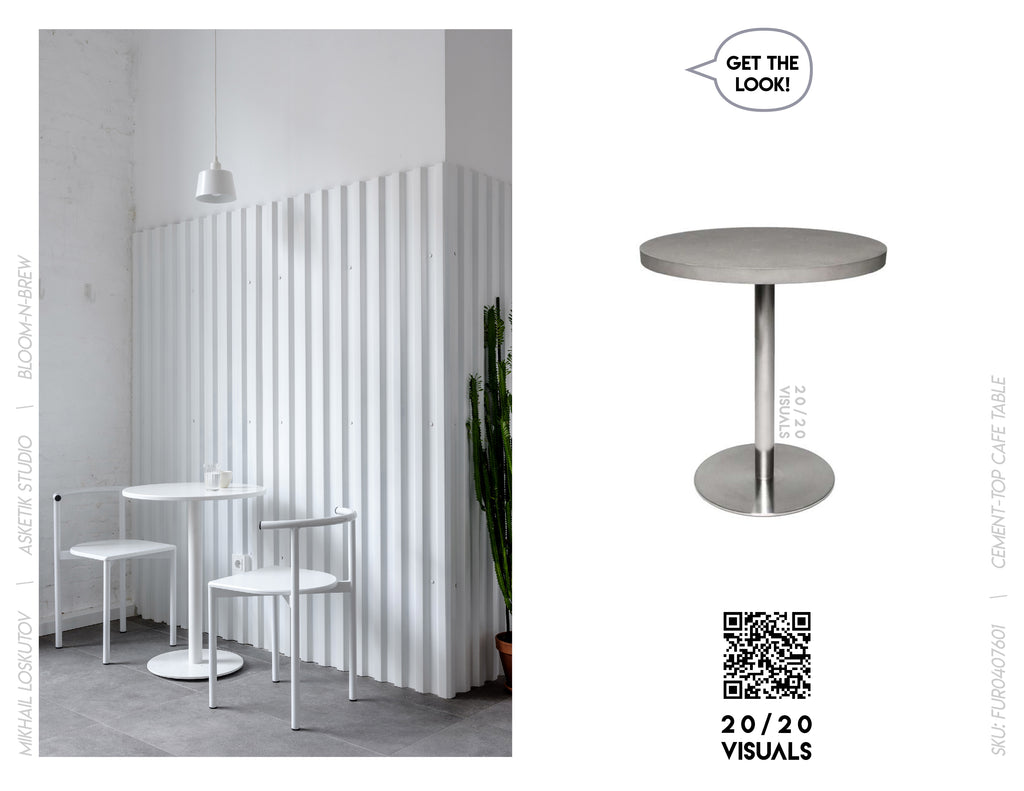 20/20 Visuals | Get The Look | Cement-top Cafe Table