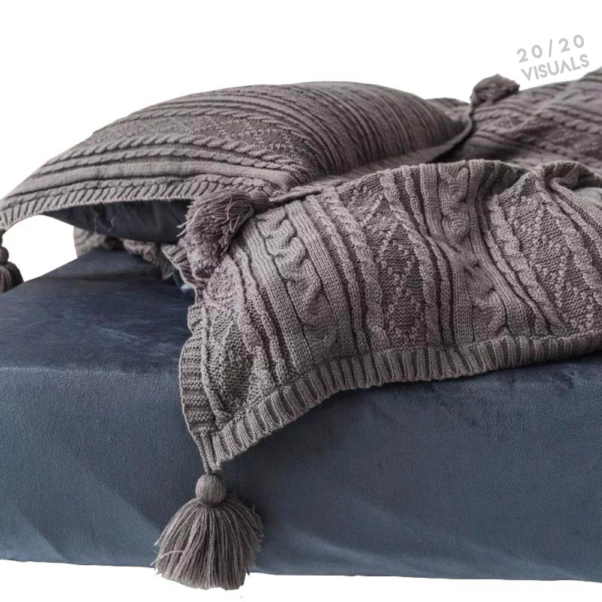 Cable Knit Duvet Set (4Pcs Set)