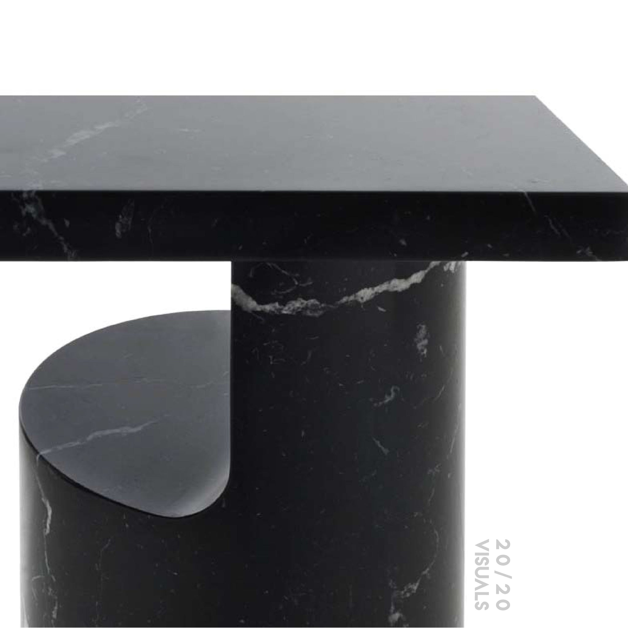 Cliffhanger Marble Side Table