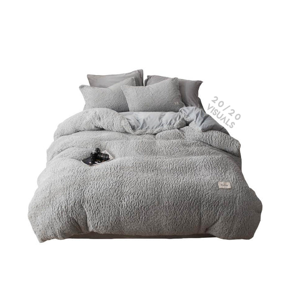 Fleece Duvet Set (4Pcs Set)