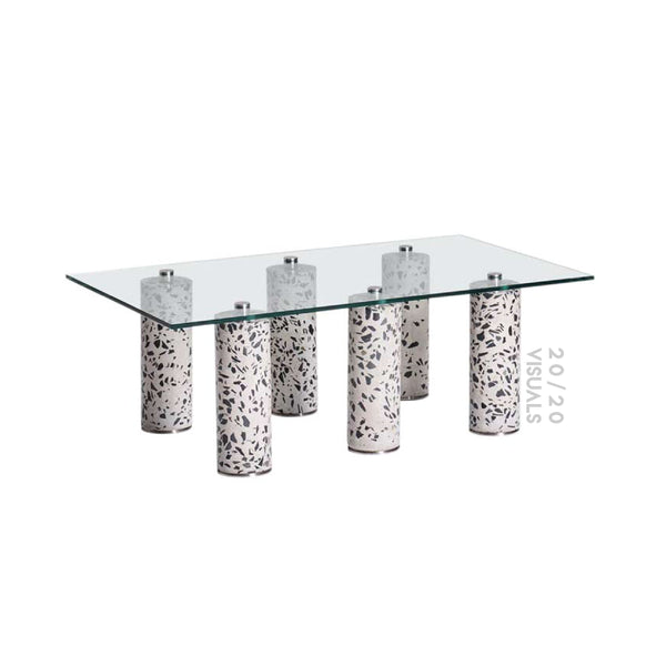 Glass-top Terrazzo Coffee Table