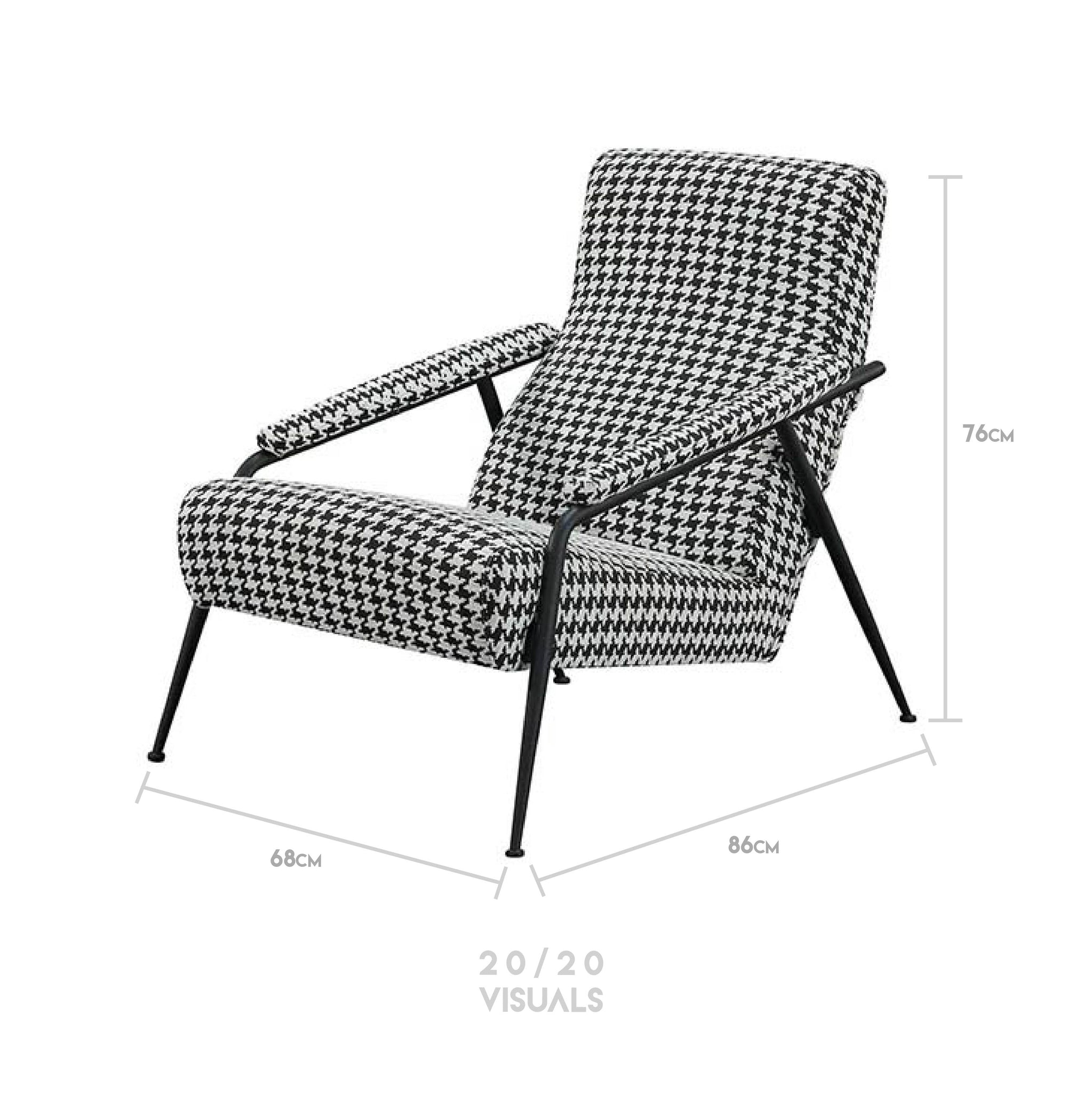 Houndstooth Lounge Chair