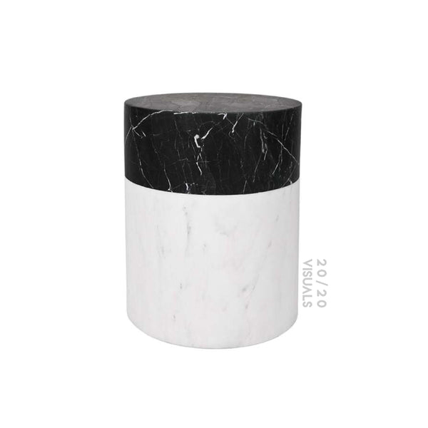 Marble Color Block Side Table