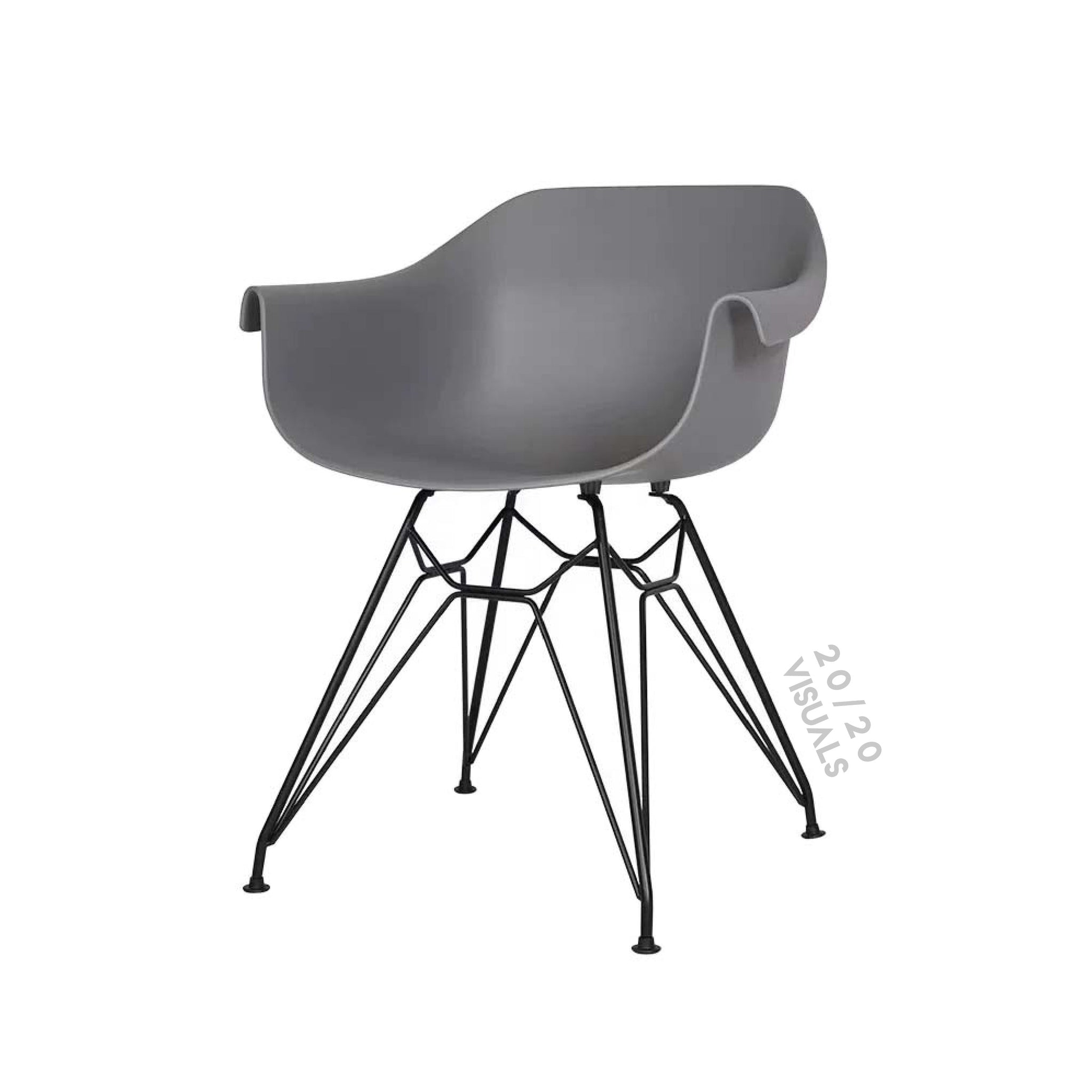 Steel Accent Bucket Chair