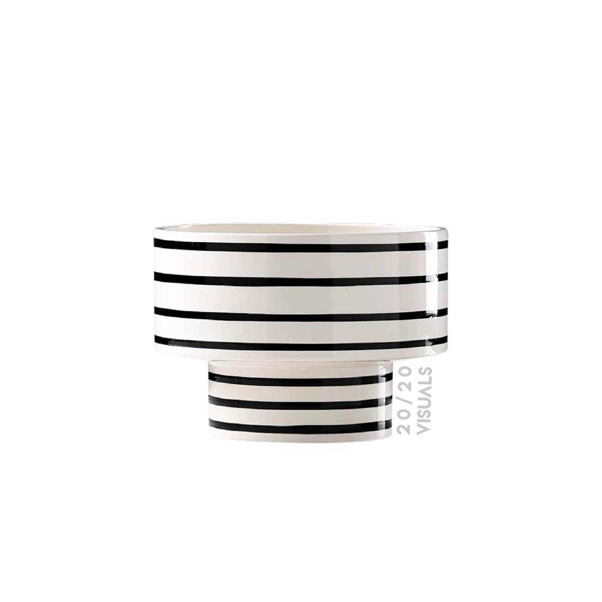 Striped Bowl Vase