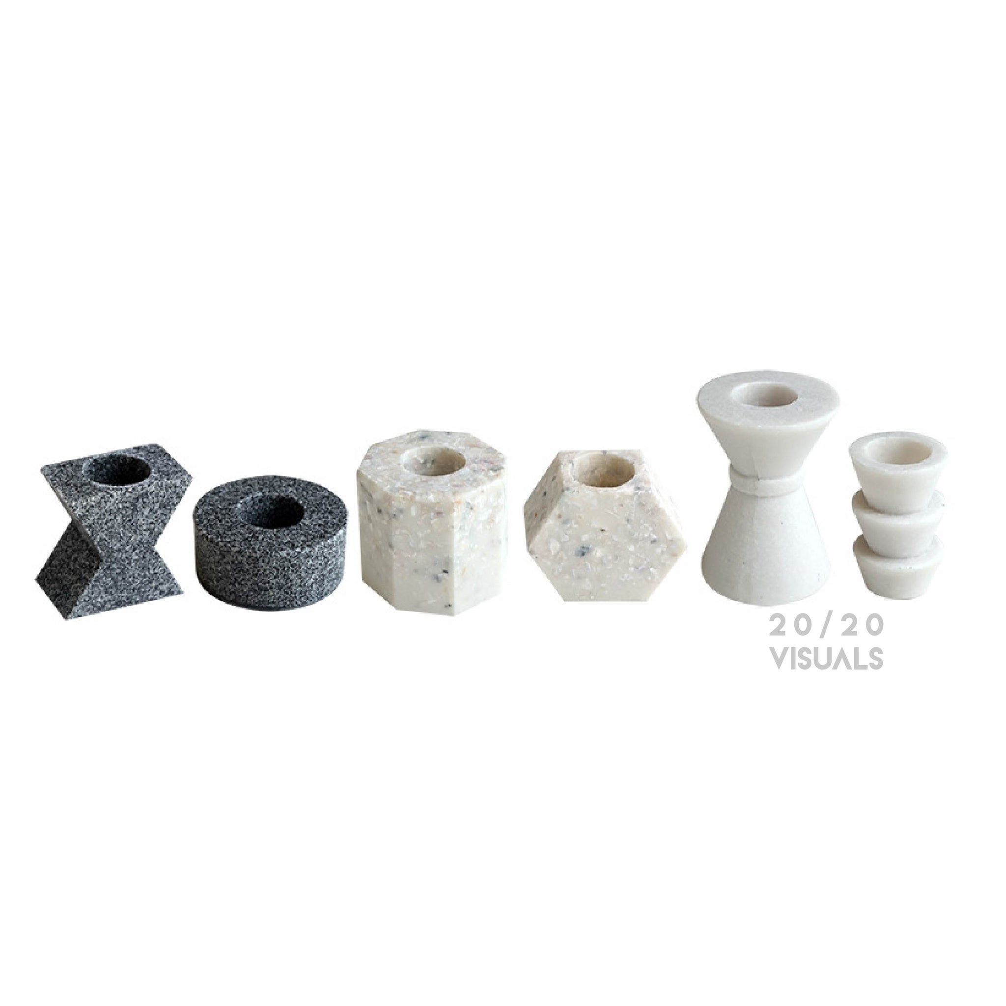 Terrazzo Candle Holders (6pcs)