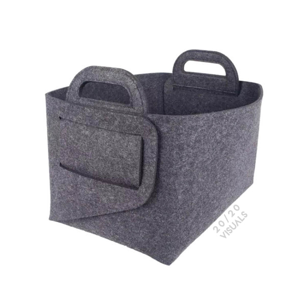 Felt Folding Bin (Set of 2)