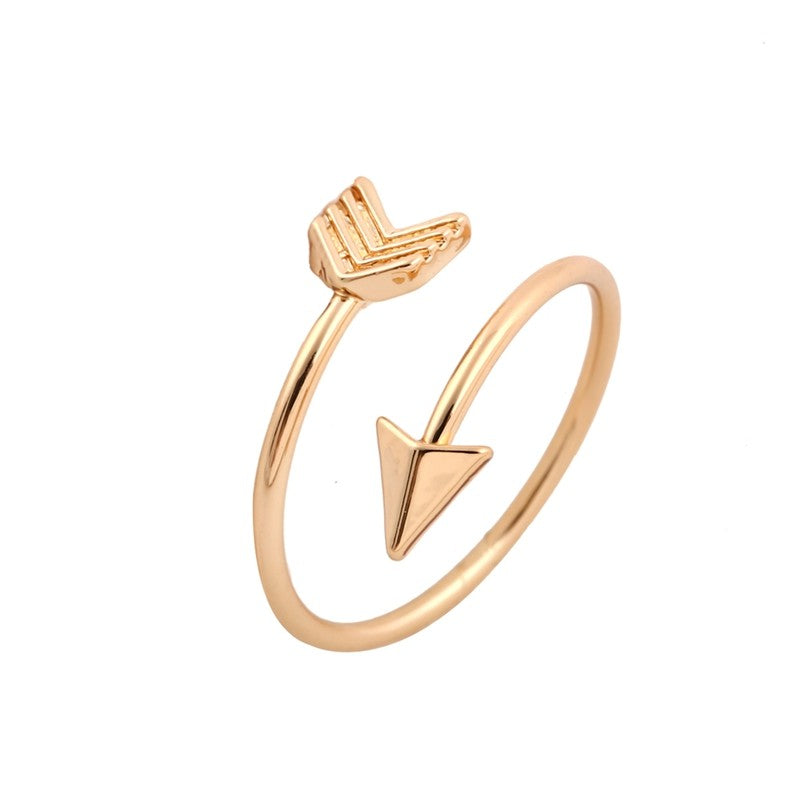 rose gold arrow ring