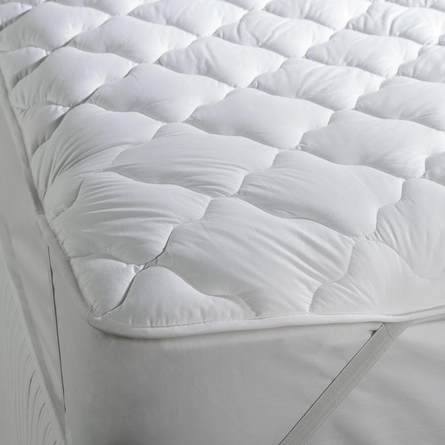 Cotton Hollowfibre Mattress Topper, Super King