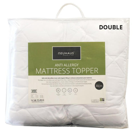 Anti-Allergy Mattress Topper DOUBLE - Bed and Bath Emporium Ltd