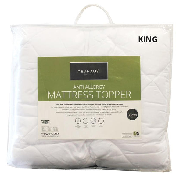 Anti-Allergy Mattress Topper KING - Bed and Bath Emporium Ltd