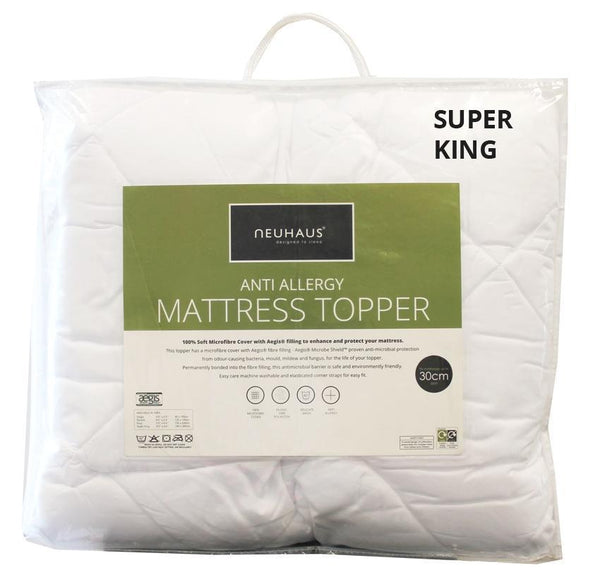 Anti-Allergy Mattress Topper SUPER KING - Bed and Bath Emporium Ltd