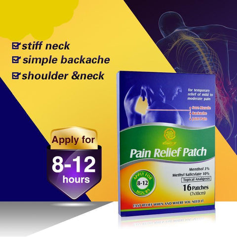 Massage & Relaxation - Heating Pad Herbal Pain Relief Plaster 16 Pcs