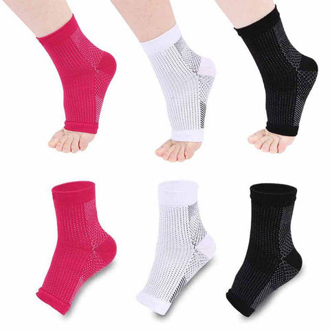 Socks - Ankle Heels Compression Socks Open Toe
