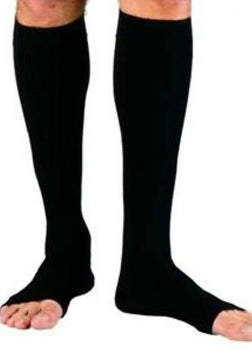 Zipper Compression Knee Stockings Open Toe Buy at least 3 to get Huge Discount