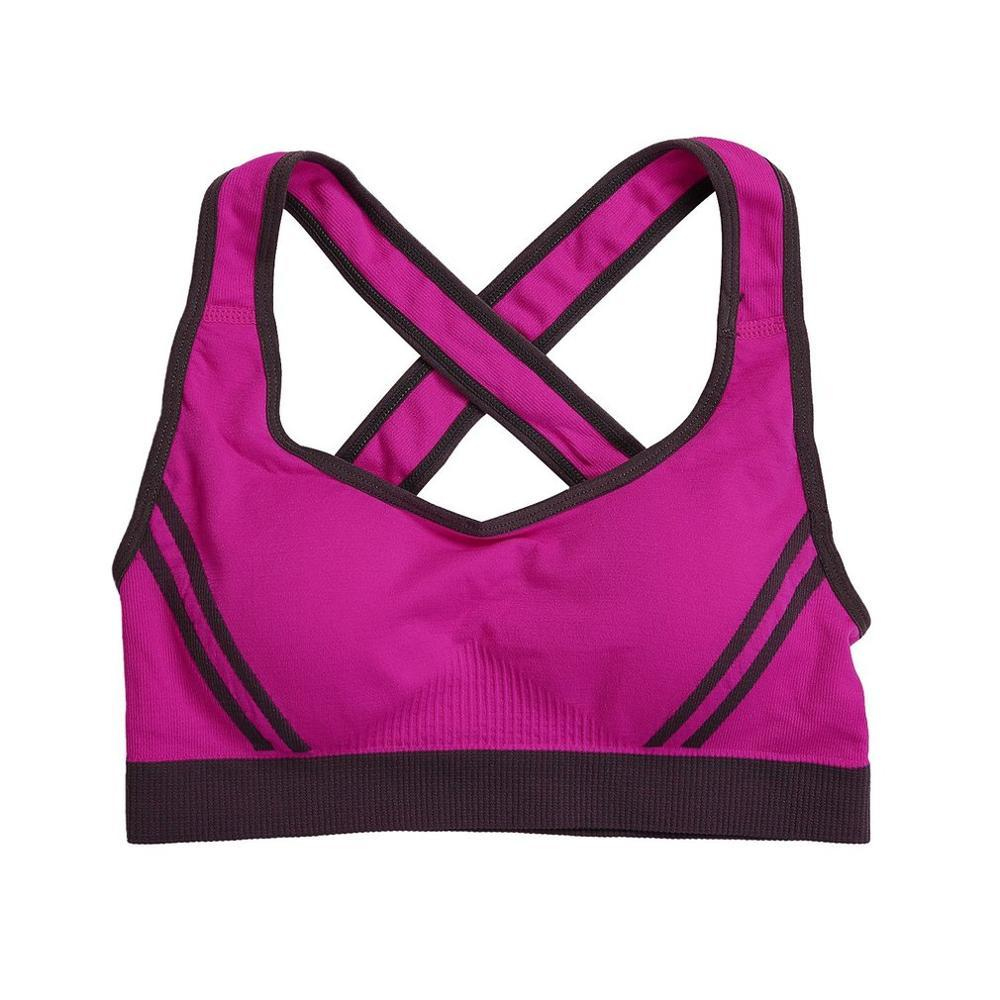 Sports Bras - FREE Women Padded Top Athletic Vest Gym Fitness Sports Bra