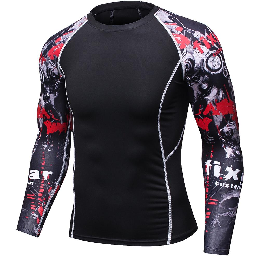 T-Shirts - Men 3D Prints Compression Shirts T-shirt Long Sleeves Thermal