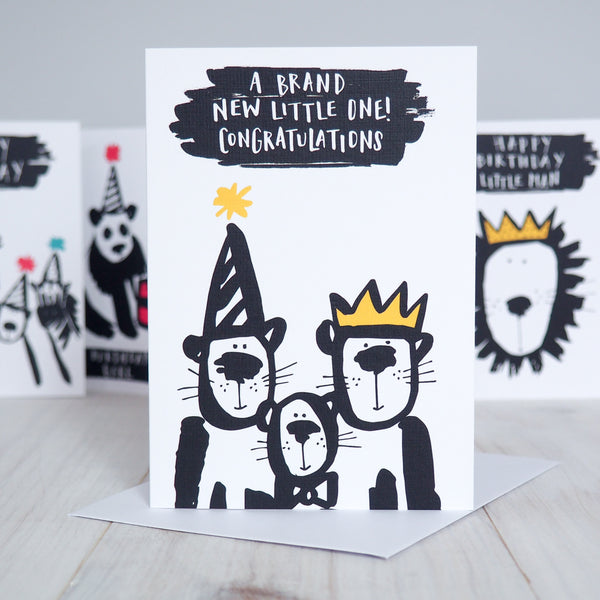 Animal Critters New Baby Card
