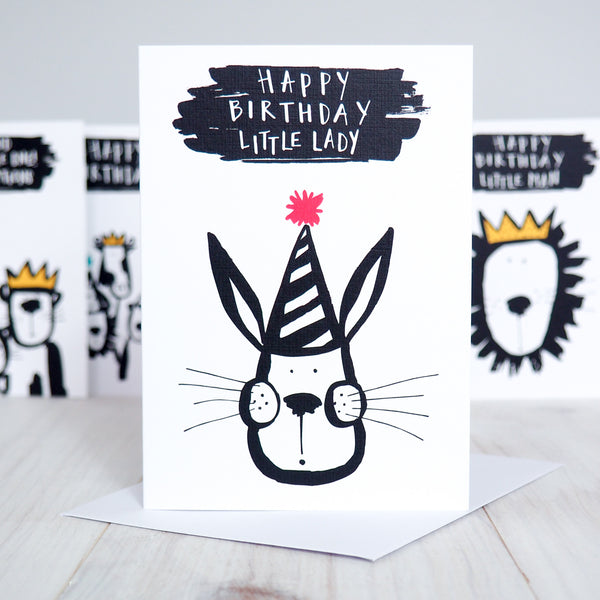 Birthday Bunny Girl's Birthday Card