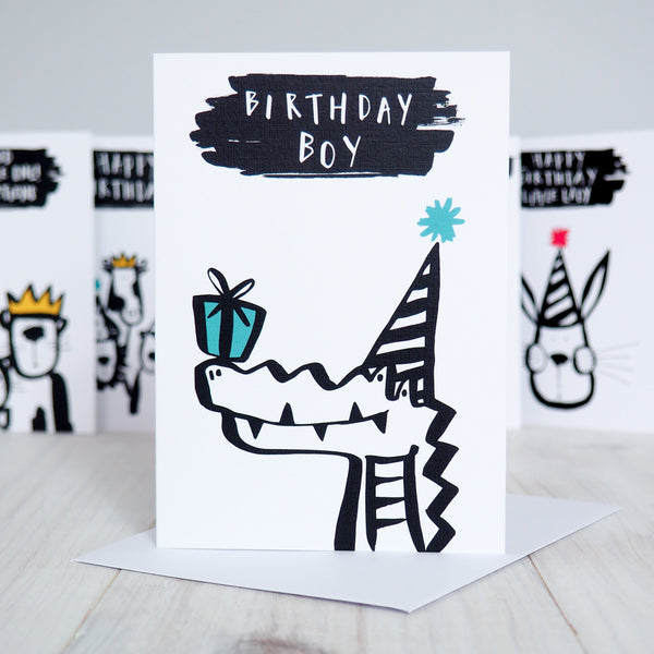 Birthday Boy Alligator Birthday Card