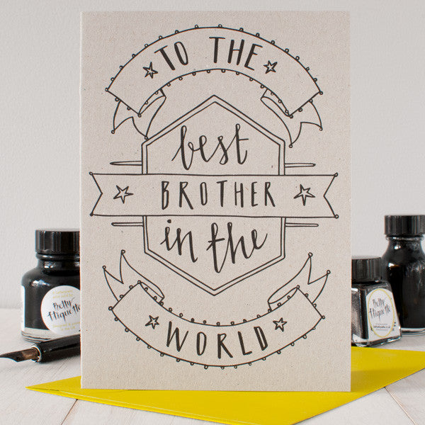 Best Brother Birthday Card Betty Etiquette