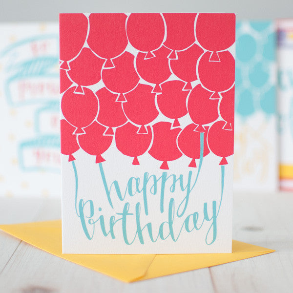 Red Balloon Happy Birthday card