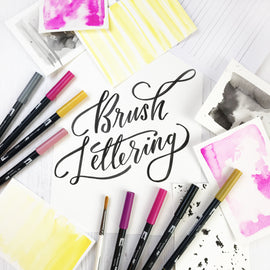 Downloadable Brush Lettering Italic Fine Tip Guidelines