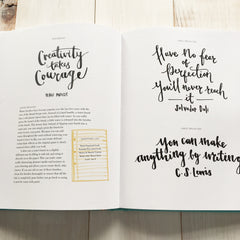 Modern Lettering: A Guide to Modern Calligraphy and Hand Lettering by Rebecca Cahill Roots © Betty Etiquette 2017