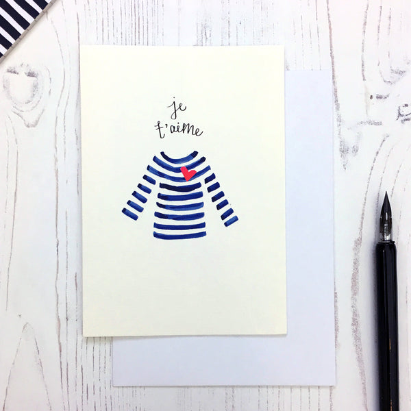 Breton Je T'aime card © Betty Etiquette 2018