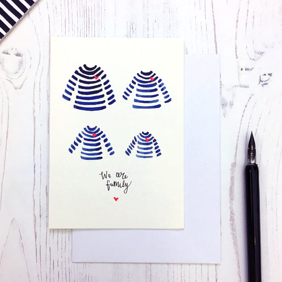 Breton We Are Family card © Betty Etiquette 2018