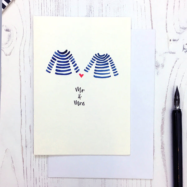 Breton Mr & Mrs card © Betty Etiquette 2018