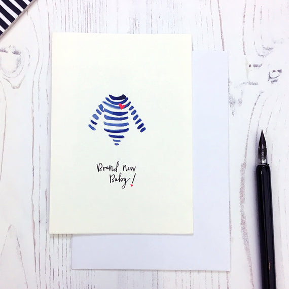 Breton New Baby card © Betty Etiquette 2018