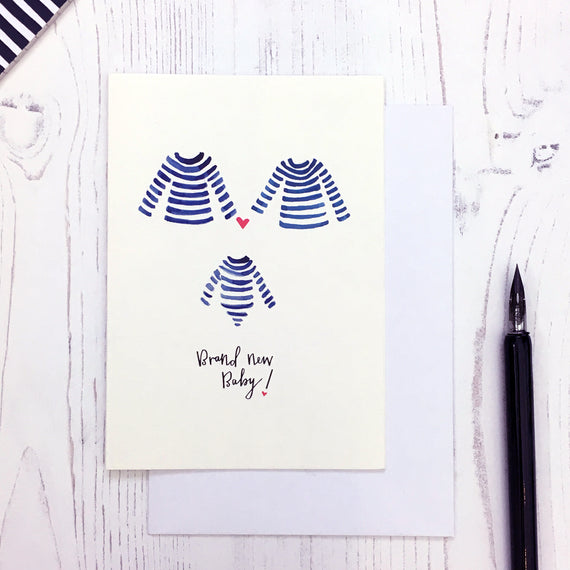 Breton Baby Makes Three card © Betty Etiquette 2018