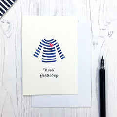 Breton Merci Thank You card © Betty Etiquette 2018