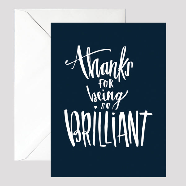Navy Thank You Card - © Betty Etiquette 2017