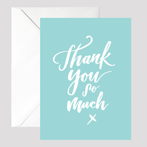 Teal Thank You Card - © Betty Etiquette 2017