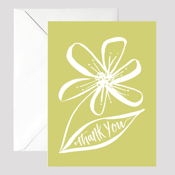 Line Thank You Card - © Betty Etiquette 2017