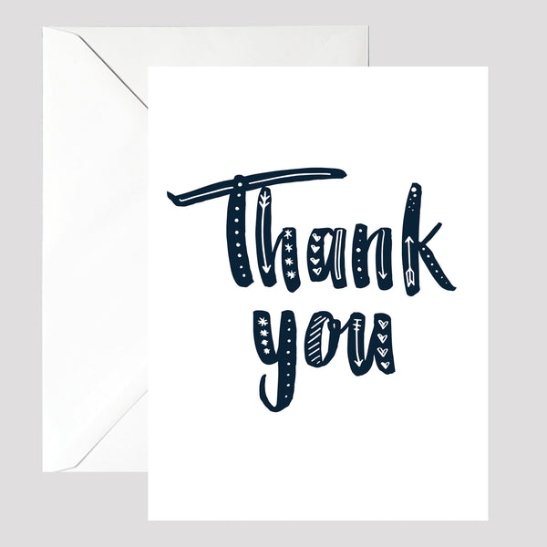 White Thank You Card - © Betty Etiquette 2017