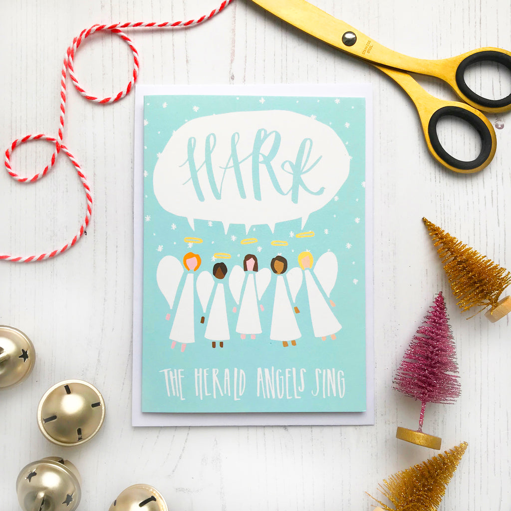 Hark Angels Christmas Card © Betty Etiquette 2018