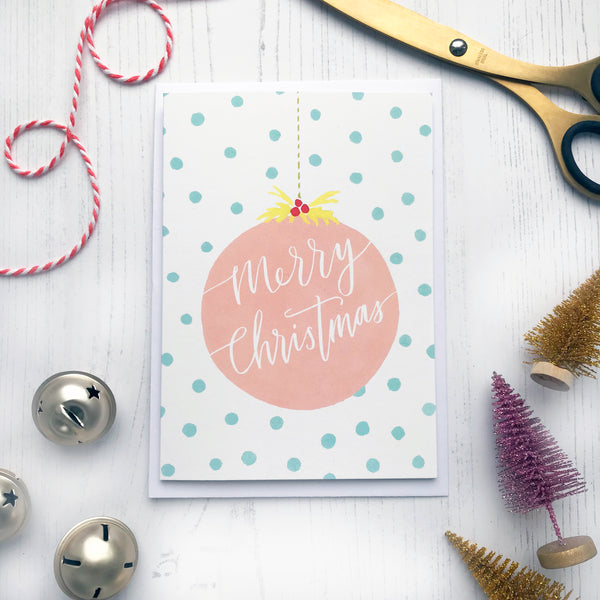 Merry Christmas Bauble Card © Betty Etiquette 2018