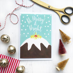 Christmas Pudding Christmas Card © Betty Etiquette 2018