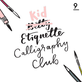 Betty Etiquette's Kid Etiquette Online Calligraphy Workshop Week Nine Printable Worksheet For Creating Shadow Lettering And Marquee Fonts